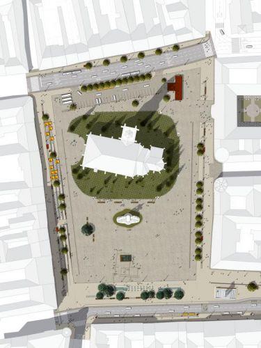 A terv szerint csak a Szent Mihály templom kertjében marad zöldövezet