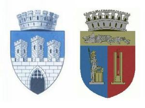 Balra a régi, jobbra pedig a Funar-féle illegális címer