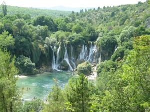 Paradicsomi táj: a Mostar és Neum között levő vízesés (hirtelen elfelejtettem a nevét...)