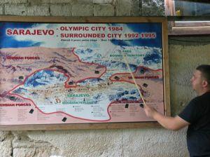 Szarajevó ostrom térképe. Erről is lesz szó a ma délutáni műsorban.