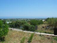 Házigazdánk terasza. Egy kis domb kell csupán a csodás kilátáshoz. A távolban Mola di Bari és az Adriai-tenger