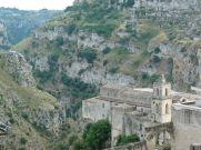 Matera: a település a Gravina di Matera szurdokvölgyében jött létre