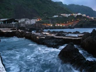 Garachico. Természetes medencék az Atlanti-óceán partján