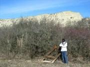 Az EarchCache helyén, a Szénafüvek Természetvédelmi Területen (Saját felvétel)