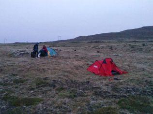 Téli sátrakkal és hálózsákokkal dehogy volt hideg Leirubakki közelében