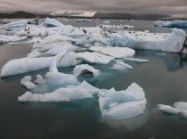 A Vatnajökull gleccser darabjai