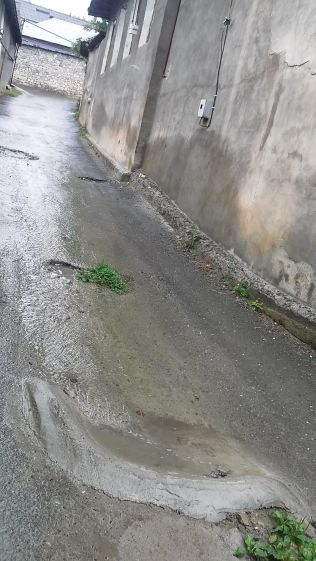 """The """"water"""" from the sewage system on the road. With some help…"""