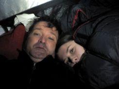 Ami biztos, biztos: Bibi a téli hálózsákban aludt. Szerencsére nem volt mínusz 24 Celsius fok
