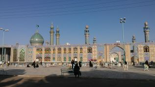 ..., but also to a holy shrine where one could see the images of the martyrs of the war with Iraq