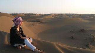 ..., so we saw it at the sand dunes of the Maranjab desert