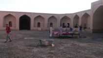 Morning look at the caravanserai in the Maranjab desert and our open air accommodation