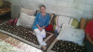 Bianka relaxing in the house of Soroush and his family, Shahreza