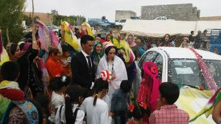 We attended the whole wedding. We still don't understand why the bride and the groom were so… sad