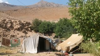 … there was a Qashqai nomad camp.