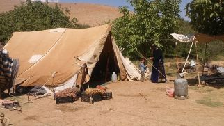 These people live in tents and migrate South when winter comes. Many already moved to loam houses
