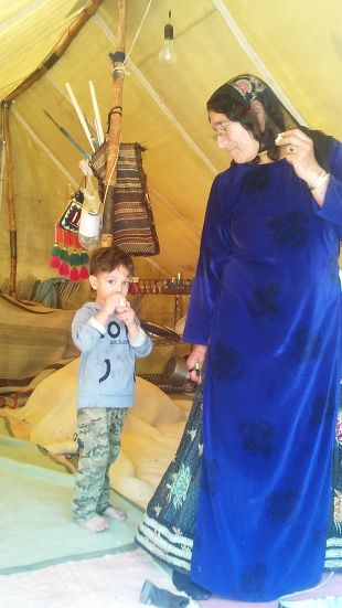 Unfortunately we couldn't communicate with them, but these Qashqai people let us into their homes: the tents