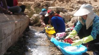 There's not running water in the tents of the Qashqai people, but the stream provides and excellent source of water