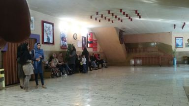 Inside a building housing a cinema in Shiraz
