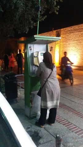 They still use old style public phones in Shiraz...