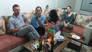 Our Shiraz host showed us the other face of the country: the wealthy, westernized Iran. Plenty of food and alcohol, good living. We had a party after he left...We left the city the next morning
