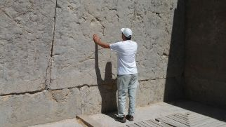 I just wanted to feel the history in Persepolis. Some thought I'm Jewish. A young man asked me why was I doing this? He thought I'm Jewish and imitate what people do at the Western Wall