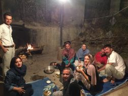 We were treated like family. They served us dinner, soft drinks, fruits, everything. We sat by the fire and enjoyed the Bakhtiar family's incredible hospitality. These people are genuinly nice, hospitable, they enjoy visitors
