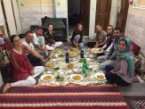 Before dinner with our host, Soroush and his family