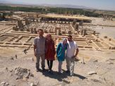 The Team at Persepolis (from left to right): Jocó (a.k.a. Joe), Emma, Bianka and me