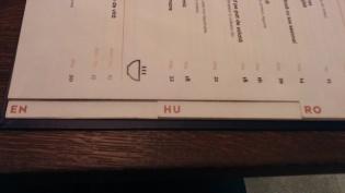 Háromnyelvű étlap