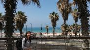 We walked a bit, took a bus from the central railway station in Tel Aviv, and there is was: the beach