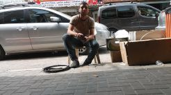 Qalqilya: punctures bike tire repaired… :)