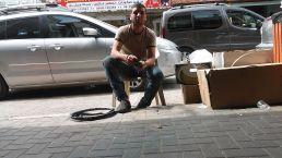 Qalqilya: punctures bike tire repaired… :)