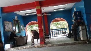 The bus station in Qalqilia