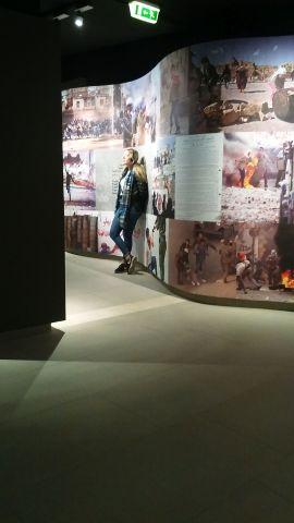 A Western lady in the Yasser Arafat Museum