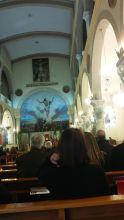 Short visit to the Catholic church in Ramallah