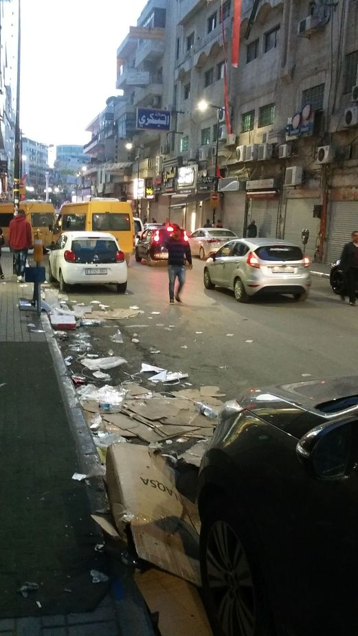 Why can't they clean the streets in Ramallah?!