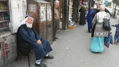 We left Ramallah again. This time for good, heading for Hebron. This old man was the good-bye messenger…