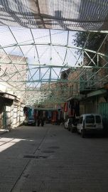 It used to be a busy market street, now Palestinians cannot sell anything...