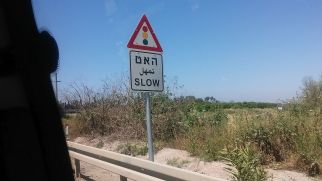 Trylingual signs in Israel