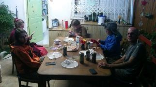 Dinner at Adi's. Thank you for hosting us and takint us to the airport...