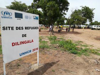 Dilingala menekülttábor. Itt is több ezren találtak menedéket
