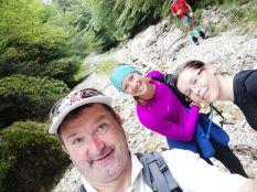 Kaliforniai CouchSurfing vendégem, Kat (középen) is csatlakozott a túrához