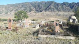 Muzulmán temető Saty falu mellett