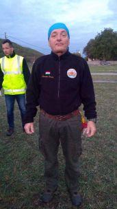 Sztrohár István hőlégballonos felszerelésben
