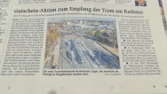 A villamosjárat beindítása és decemberi meghosszabbítása a sajtóban is jelen van