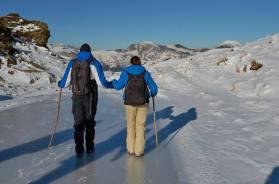 Gyere, Bibi, ne félj, nem törik be alattunk a jég, medvedermesztő hideg van
