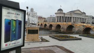 Szkopje: korszerű és antik (mű és másolat)