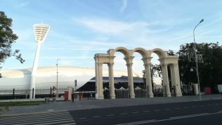 A régi station helyére új épült Minszkben