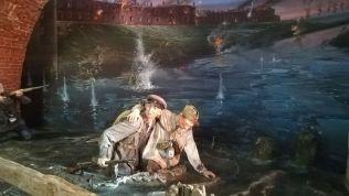 A Breszti Erődben található múzeumban rendkívül élethű viaszmakettek elevenítik fel az ádáz harcokat