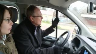 Szombaton reggel Nagy Gyula Zoltán körbevitt Hajdúszoboszló belvárosában